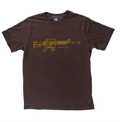 Brownells Fine Cotton Retro Carbine T-Shirts - Fine Cotton Retro Carbine T-Shirt Medium Brown