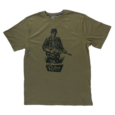 Brownells Fine Cotton Mac V Sog T-Shirts - Fine Cotton Mac V Sog T-Shirt X-Large Green