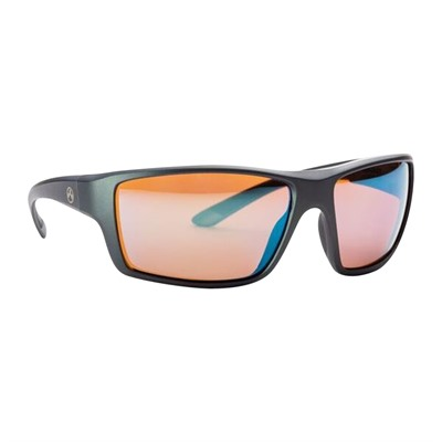 Magpul Summit Sunglasses - Summit Matte Gray Frame Rose Lens W/ Blue Lens Mirror