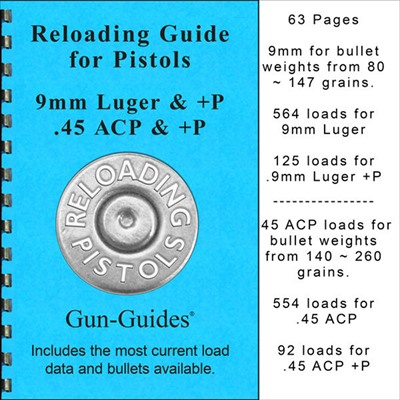 Gun-Guides Reloading Guide For Pistols 9mm Luger & +p / 45acp & +p
