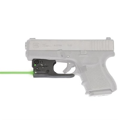 Viridian Reactor 5 Gen 2 Laser Sight Featuring Ecr With Ambi Iwb Holster - Glock 19/23/26/27 Reactor 5 Gen 2 Green Laser W/Holster