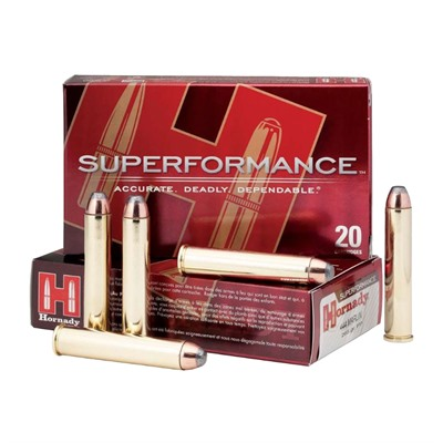 Hornady Superformance 444 Marlin Interlock Flat Nose Ammo - 444 Marlin 265gr Interlock Flat Nose 20/Box