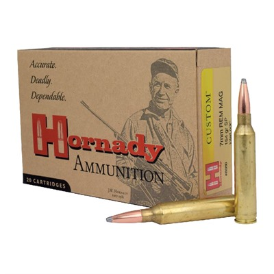 Hornady Custom 7mm Remington Magnum Interlock Spire Point Ammo - 7mm Remington Magnum 154gr Interlock Spire Point 20/Box