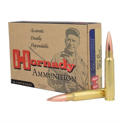 Hornady Match 8x57mm Js Interlock Spire Point Ammo - 8x57mm Js 195gr Interlock Spire Point 20/Box