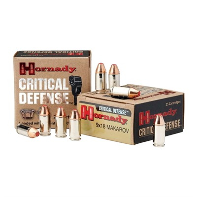 Hornady Critical Duty 9x18mm Makarov Ftx Ammo - 9x18mm Makarov 95gr Ftx 25/Box