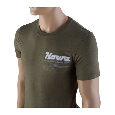 Howa Factory T Shirts Front Logo Only Howa T Shirt Front Logo Only Heather Olive X Large