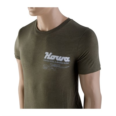 Legacy Sports International Howa Factory T-Shirts Front/Back Logo - Howa T-Shirt Front /Back Logo Heather Olive Medium