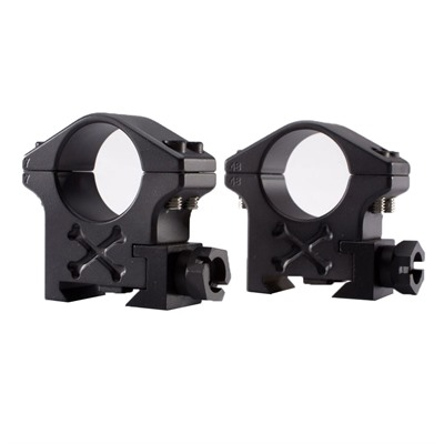 Talley Tactical Scope Rings - 34mm Medium Matte Black Tactical Rings