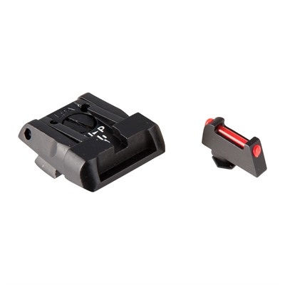 L.P.A. Sights Adjustable Glock Sights - Fully Adjustable Sight Set, Black R/Fiber Optic Front