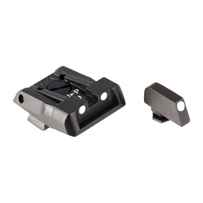 L.P.A. Sights Adjustable Glock Sights - Fully Adjustabel Sight Set, White Dot