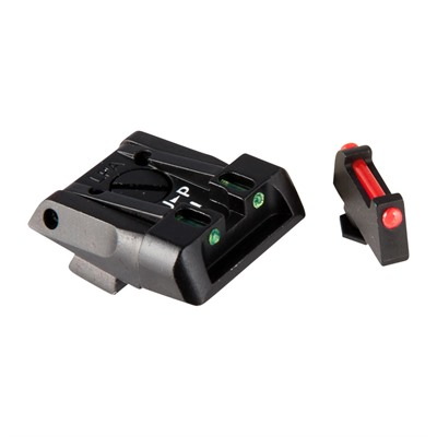 L.P.A. Sights Adjustable Glock Sights - Fully Adjustable Sight Set, Fiber Optic F/R