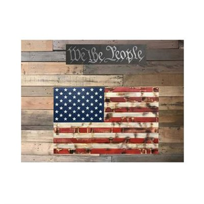 Protect Your Shelves Single Compartment Concealment Flags - Single Chamber Rustic Red, White, & Blue Concealment Flag