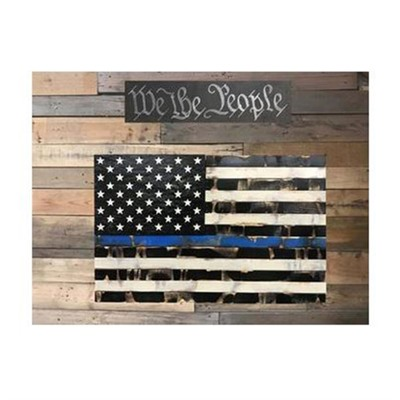 Protect Your Shelves Single Compartment Concealment Flags - Single Chamber Distressed Thin Blue Line Concealment Flag