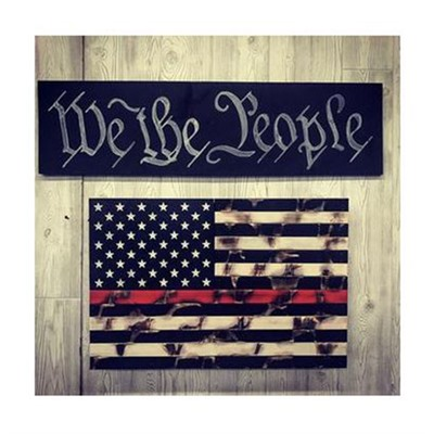 Protect Your Shelves Single Compartment Concealment Flags - Single Chamber Distressed Thin Red Line Concealment Flag