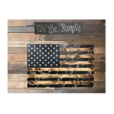 Protect Your Shelves Single Compartment Concealment Flags - Single Chamber Distressed Burnt Black Concealment Flag