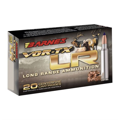 Barnes Vor-Tx 270 Winchester Ammo - 270 Winchester 129gr Long Range X Boat Tail 20/Box