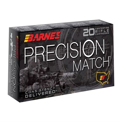Barnes Precision Match 6mm Creedmoor Ammo - 6mm Creedmoor 112gr Open Tip Match Jacketed Hp 20/Box