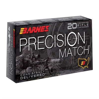 Barnes Precision Match 260 Remington Ammo - 260 Remington 140gr Open Tip Match Jacketed Hp 20/Box
