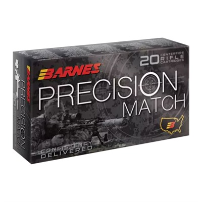 Barnes Precision Match 338 Lapua Magnum Ammo - 338 Lapua Magnum 300gr Open Tip Match Jacketed Hp 20/Box
