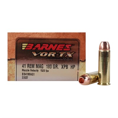 Barnes Vor-Tx Hunting Handgun 41 Remington Magnum Ammo - 41 Remington Magnum 180gr Xpb Hollow Point 20/Box