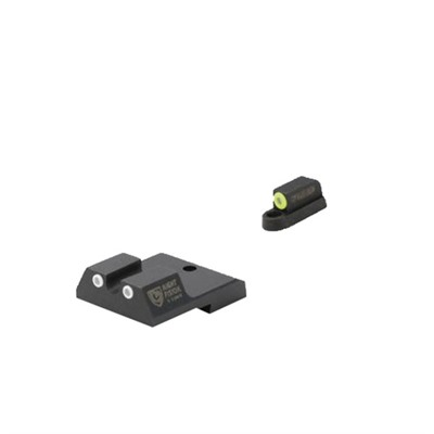 Night Fision Perfect Dot Tritium Night Sights For Cz - Cz P-10c Yellow Front & White Rear, U Notch Rear