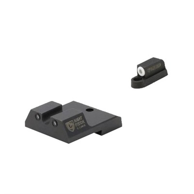Night Fision Perfect Dot Tritium Night Sights For Cz - Cz P-10c White Front & Black Rear, U Notch Rear