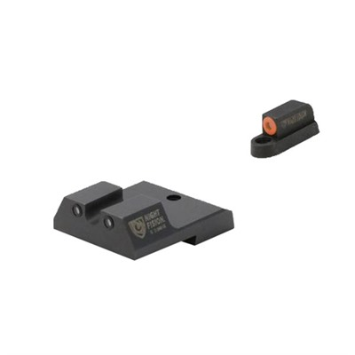 Night Fision Perfect Dot Tritium Night Sights For Cz - Cz P-10c Orange Front & Black Rear, U Notch Rear