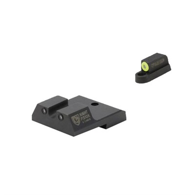 Night Fision Perfect Dot Tritium Night Sights For Cz - Cz P-10c Yellow Front & Black Rear, U Notch Rear