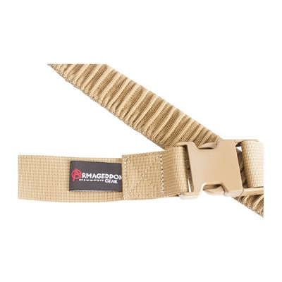 Armageddon Gear Precision Rifle Sling - Precision Rifle Sling With Qd Swivels, Coyote Brown