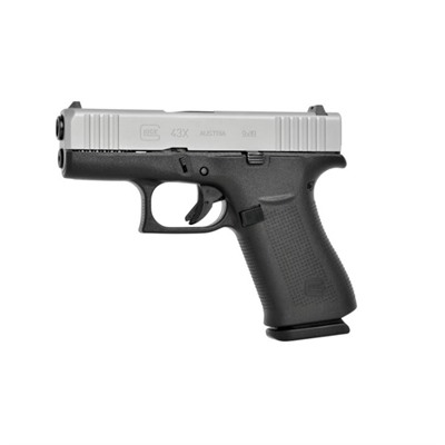 Glock 43x 9mm Ameriglo Bold Sights - 43x Silver 9mm Ameriglo Bold Sight