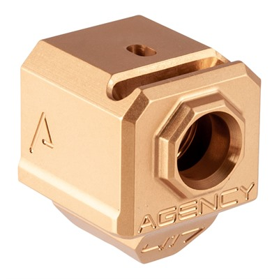 Agency Arms 417s Single Port Compensator - 417s Single Port Comp For Glock Gen 3, Gold, 9mm