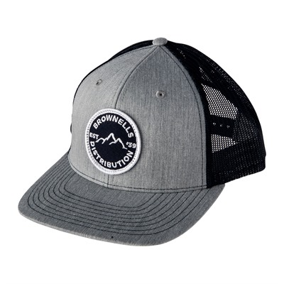 Brownells Richardson Snapback Trucker Cap Heather Gray/Navy Mesh