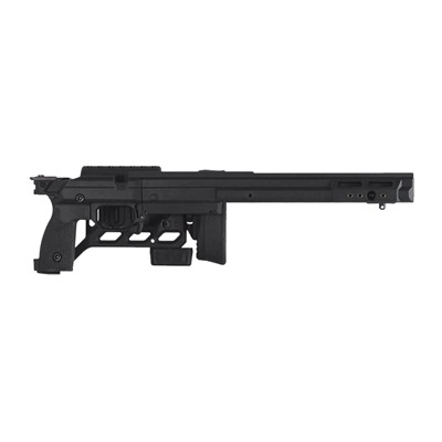 Kinetic Research Group Whiskey 3 Tikka T3x Chassis - Tikka T3x Chassis Folding Stock Black