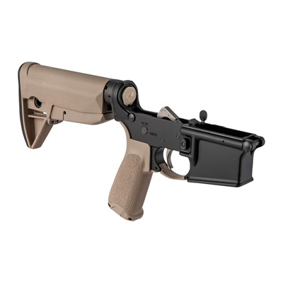 Bravo Company Ar-15 Complete Lower Receiver W/ Bcmgunfighter Stock - Complete Lower Receiver W/ Gunfighter Stock Fde