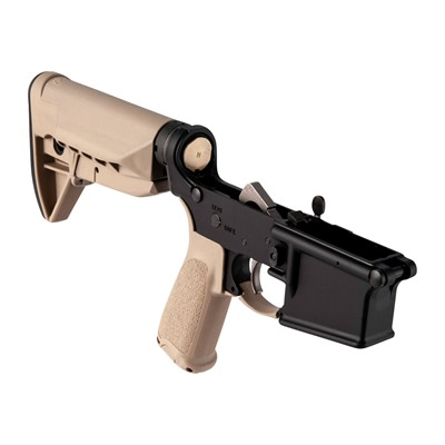 Bravo Company Ar-15 Complete Lower Receiver W/ Bcmgunfighter  Sopmod Stock - Complete Lower Receiver W/ Sopmod Stock Fde