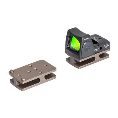 Badger Ordnance C.O.M.M. Micro Sight Adapters - C.O.M.M. Trijicon Rmr Micro Sight Mount Tan