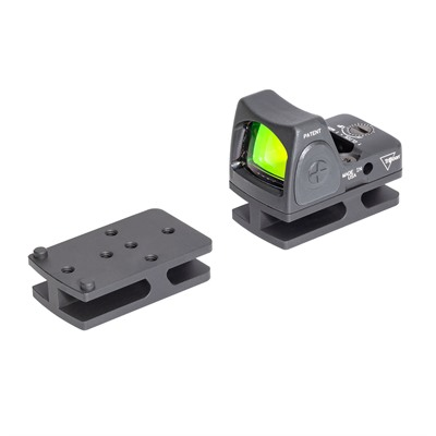 Badger Ordnance C.O.M.M. Micro Sight Adapters - C.O.M.M. Trijicon Rmr Micro Sight Mount Black