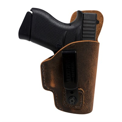Muddy River Tactical Tuckable Inside The Waistband Water Buffalo Holsters - Glock 43 Tuckable Leather Iwb Holster