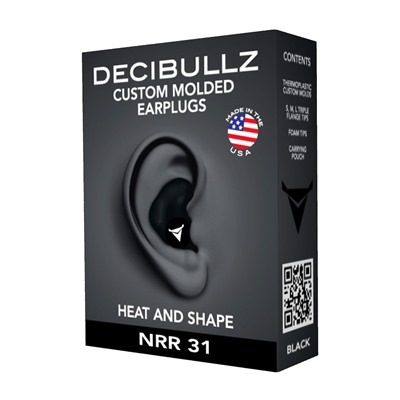 Decibullz Custom Molded Earplug - Custom Molded Earplug, Black