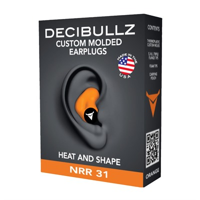 Decibullz Custom Molded Earplug - Custom Molded Earplug, Orange