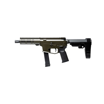 Angstadt Arms Udp-9 9mm Pistols W/ Sba3 Tactical Brace - Udp-9 9mm Pistol 6  Sb Tactical Sba3 Brace Od Green