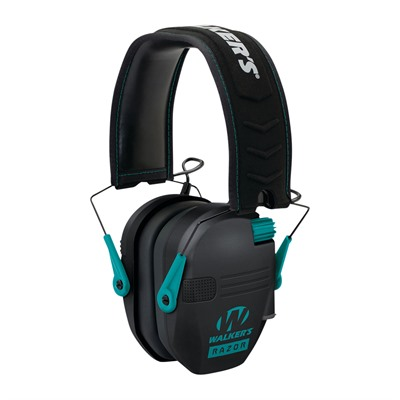 Walkers Game Ear Razor Slim Shooter Folding Electronic Muff - Razor Slim Shooter Folding Muffs-Teal