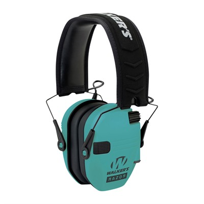 Walkers Game Ear Razor Slim Shooter Folding Electronic Muff - Razor Slim Shooter Folding Muffs-Light Teal