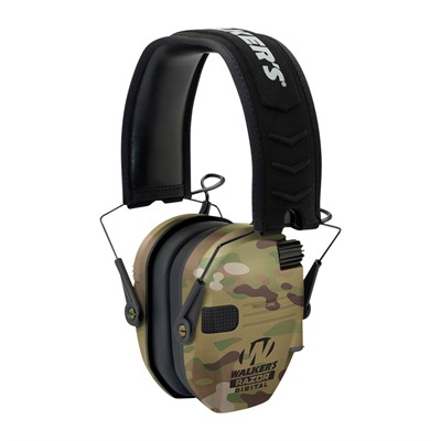 Walkers Game Ear Razor Slim Shooter Folding Electronic Muff - Razor Slim Shooter Folding Muffs-Multicam