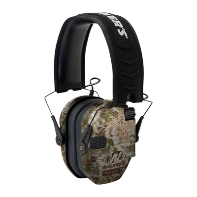 Walkers Game Ear Razor Slim Shooter Folding Electronic Muff - Razor Slim Shooter Folding Muffs-Kryptek Highlander
