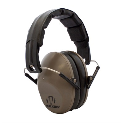 Walkers Game Ear Pro Low Profile Folding Muffs - Pro Low Profile Folding Muffs-Fde