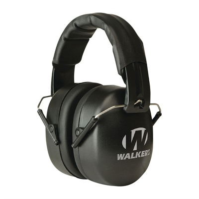Walkers Game Ear Ext Range Shooting Folding Muffs - Ext Range Shooting Folding Muffs-Black