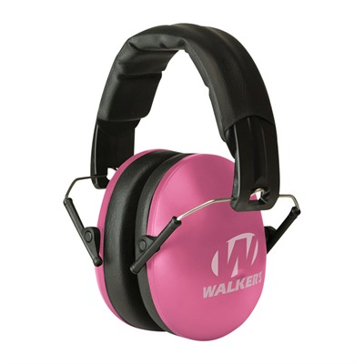 Walkers Game Ear Youth & Women's Folding Muffs - Youth & Women's Folding Muffs-Pink