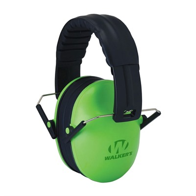 Walkers Game Ear Baby & Kid's Folding Earmuffs - Baby & Kid's Earmuffs-Lime Green