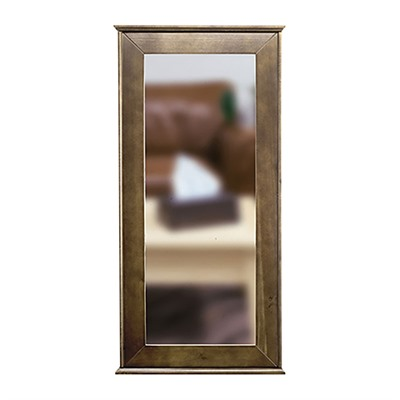 Tactical Walls 1440 Hinged Mid-Length Concealment Mirror - 1440 Hinged Mid-Length Mirror W/Inserts Dutch Walnut